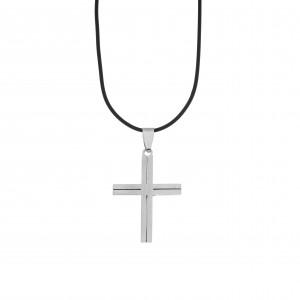 Men's Cross from Steel in Silver Color AJ (KKA0104A)