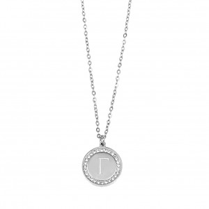 Monogram C Necklace from Steel to Silver AJ (KM0079A)