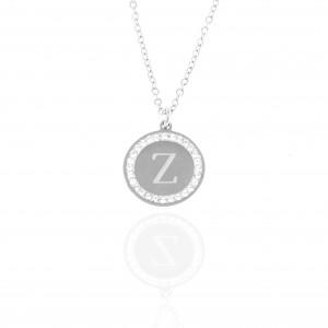 Necklace-Monogram Z from Steel to Silver AJ (KM0099A)