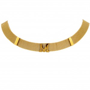 Necklace M monogram made of steel in Yellow Gold AJ (KM0102X)