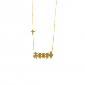 Necklace Family From Steel to Yellow Gold AJ (KO.0077X)