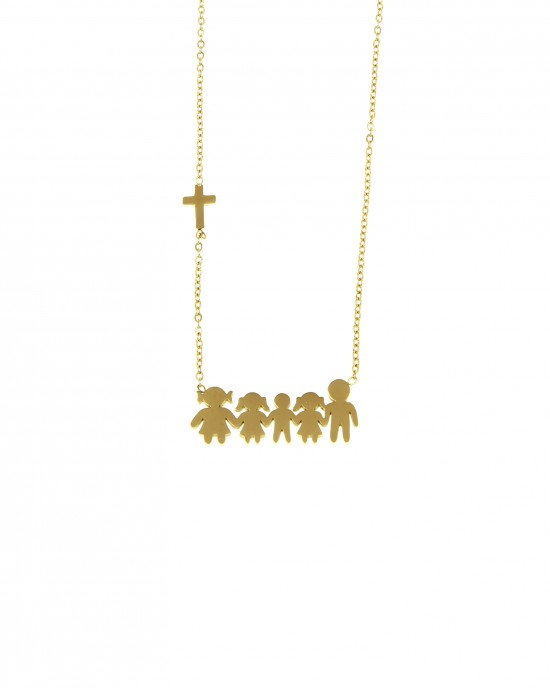 Necklace Family Of Stainless Steel In Gold AJ (KO.0078X)