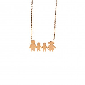 Necklace-Family From Steel to Rose Gold AJ (KO.0083RX)
