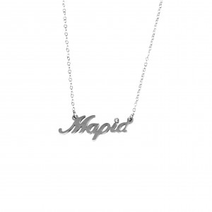 Women's Necklace with the name Maria from Steel in Silver Color AJ (KO.0012A)