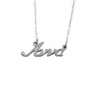 Women's Necklace Name Anna from Steel in Silver AJ (KO0016A)