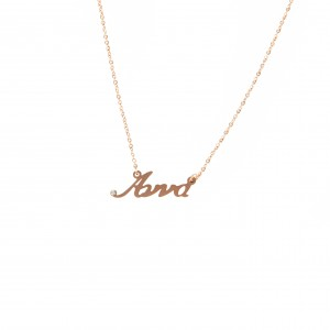 Women's Necklace Name Anna from Steel in Pink Pink Gold AJ (KO.0016R.X)
