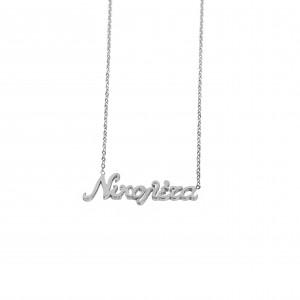 Women's Necklace Named Nicoleta by Steel in Silver Color AJ(KO.0028A)