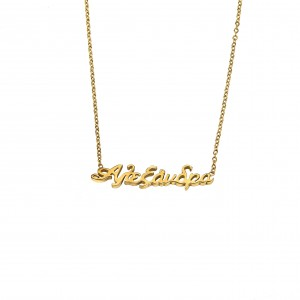 Women's necklace with name Alexandra made of steel in gold color AJ (KO0064X)