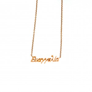 Women's Necklace Name Evangelia from Steel in Gold AJ (KO0072X)