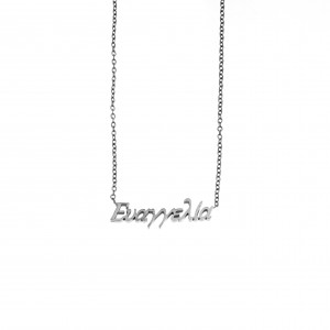 Women's Necklace Name Evangelia from Steel in Silver AJ (KO0073A)