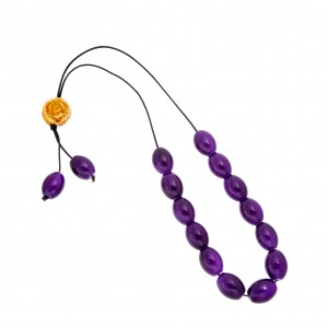 Rosary with Purple Onyx Stones AJ (KOM0010)