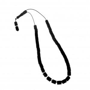 Rosary with black semi-precious stones AJ (KOM0019)