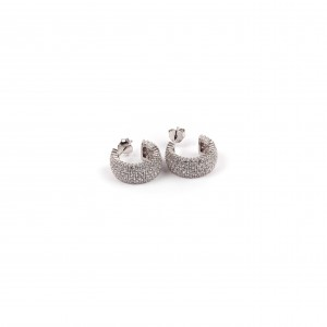 Sterling silver 925 earrings with zircon stones