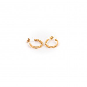 Women's 925 Sterling Silver Pendant Earrings with Gold Plating