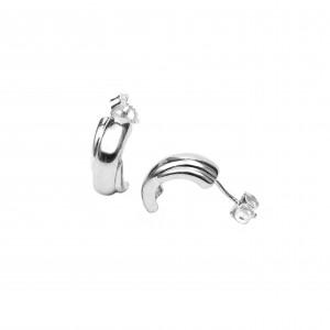 Silver 925 Earrings-platinum Women's Color Silver AJ (SKA0014A)