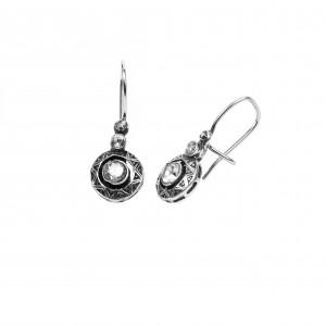 Silver 925 Women's Hanging Earrings with Zircon Stones Gianniotika in Silver ColorAJ (SKA0022A)