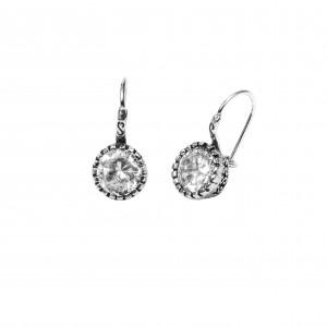 Silver 925 Women's Earrings with Petra Zirgon Gianniotika in Silver colorAJ (SKA0023A)