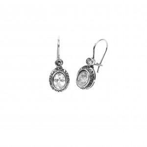 Silver 925 Women's Hanging Earrings with Zircon Stones Gianniotika in Silver ColorAJ (SKA0025A)