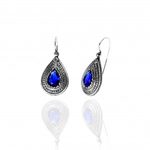 Earrings from Ioannina Silver 925 with stones AJ (SKA0044)