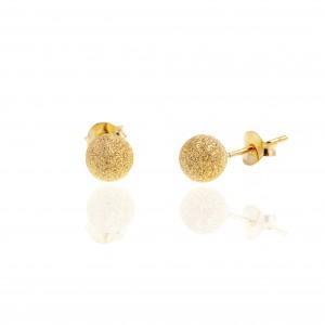 Stud Earrings with Silver 925 in Yellow Gold AJ (SKA0047X)