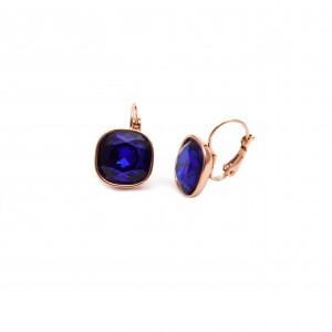 Women's Surgical Steel Earrings in pink Gold AJ (SKK0009X)