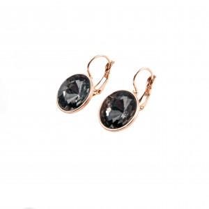 Women's surgical steel earrings, pink gold AJ(SKK0016RX)