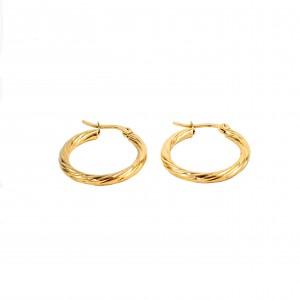 women's Stainless Steel earrings with gold color AJ(SKK0024X)