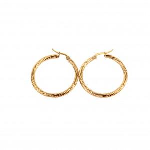 women's Stainless Steel earrings with gold color AJ (SKK0025X)