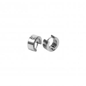 Women's Earrings Men's Earrings made of Steel in Silver AJ Color (SKK0030A)