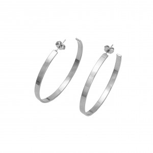 Women's Earrings-Steel Bags in Silver AJ (SKK0030A)