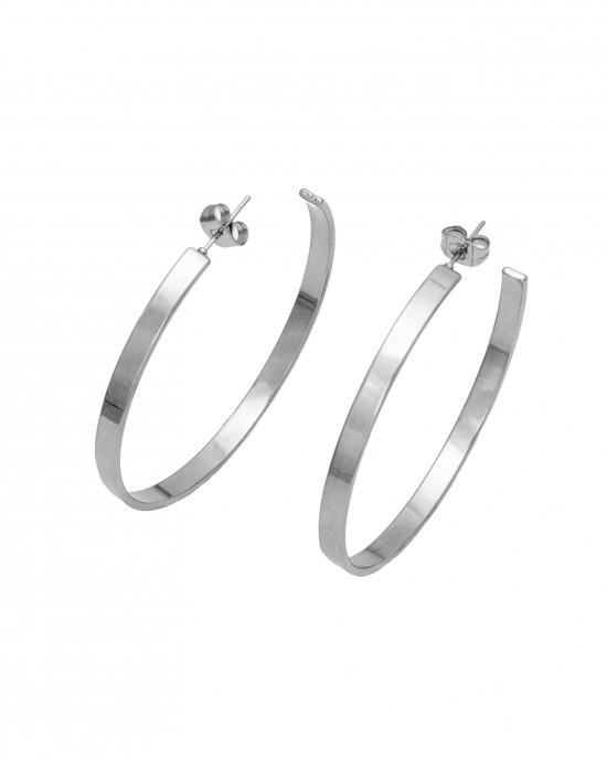 Women's Earrings-Steel Bags in Silver AJ (SKK0030A)