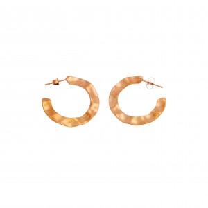 Earrings-Steel Rings in Pink Gold AJ (SKK0045RX)
