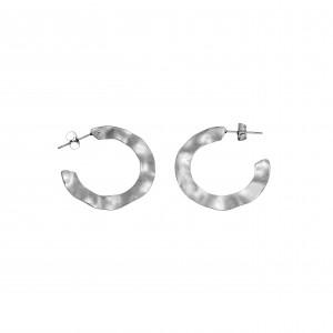 Earrings-Steel Rings in color Silver AJ (SKK0046A)