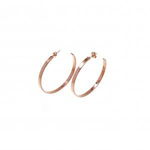 Earrings Steel Rings in Pink Gold AJ (SKK0052RX)