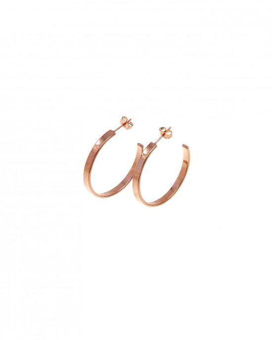 Earrings Steel Rings in pink Gold AJ (SKK0053RX)