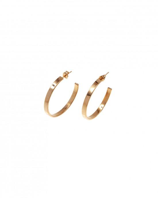 Earrings-Rings from Steel in Yellow Gold AJ (SKK0054X)