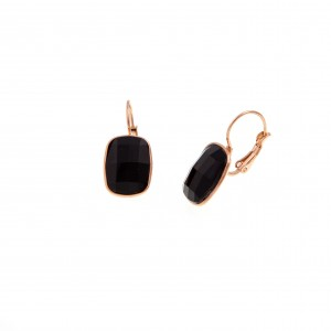 Earrings with Steel Stone in Pink Gold AJ (SKK0055RX)