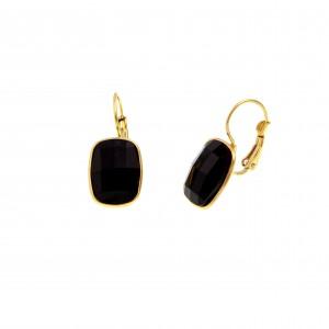 Earrings with Steel Stone in Yellow Gold AJ (SKK0056X)
