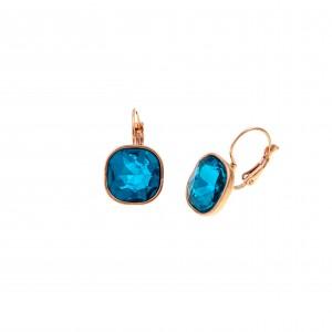 Earrings with Steel Stone in Pink Gold AJ (SKK0057RX)