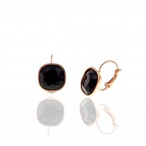 Earrings-Pendants with Steel Stone in Pink Gold AJ (SKK0059RX)