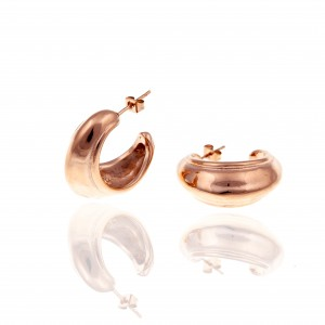 Earrings-Steel Earrings in Rose Gold AJ (SKK0062RX)