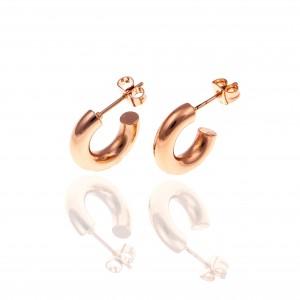 Women's Steel Earrings in Rose Gold AJ (SKK0065RX)