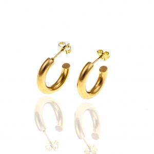 Women's Steel Earrings in Yellow Gold AJ (SKK0068X)