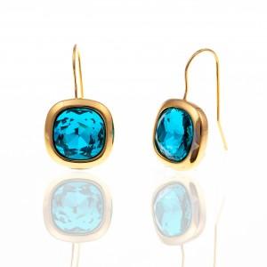 Earrings with Steel Stones in Yellow Gold AJ (SKK0075X)