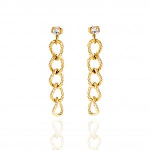 Earrings-Chains from Steel to Gold AJ (SKK0075X)