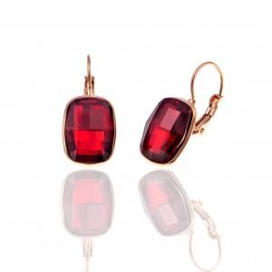 Earrings with Steel Stones in Rose Gold AJ (SKK0079RX)