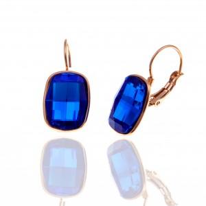 Earrings with Steel Stones in Rose Gold AJ (SKK0080RX)