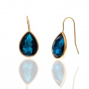 Earrings with Steel Stone in Yellow Gold AJ (SKK0085X)