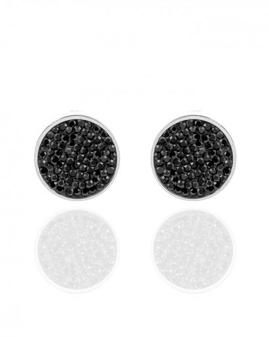 Women's Steel Earrings in Silver with Stones AJ (SKK0090A)