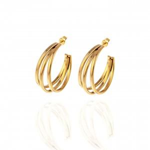 Earrings Rings in Yellow Gold Steel AJ (SKK0092X)